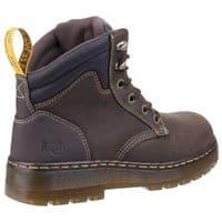 Dr Martens Brace Boots Safety Dark Brown